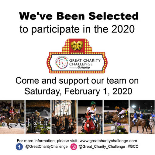 Equestrian Aid Foundation Selected to Participate in 2020 Great Charity Challenge