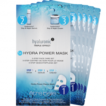 Ref. 3251 - Hyaluronic ³ Hydra Power Mask 3-Step Face  4 Unidades 22ml