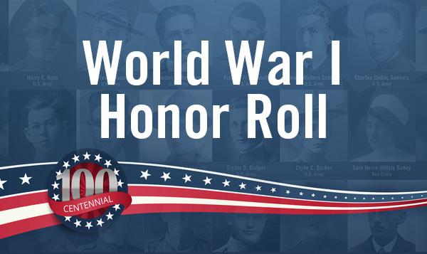 World War I Honor Roll Display