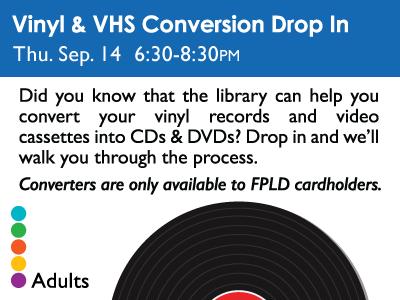 Vinyl & VHS Conversion