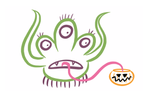 Drawing of a cartoon monster