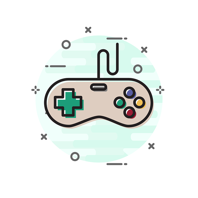 Drawing of a game controller