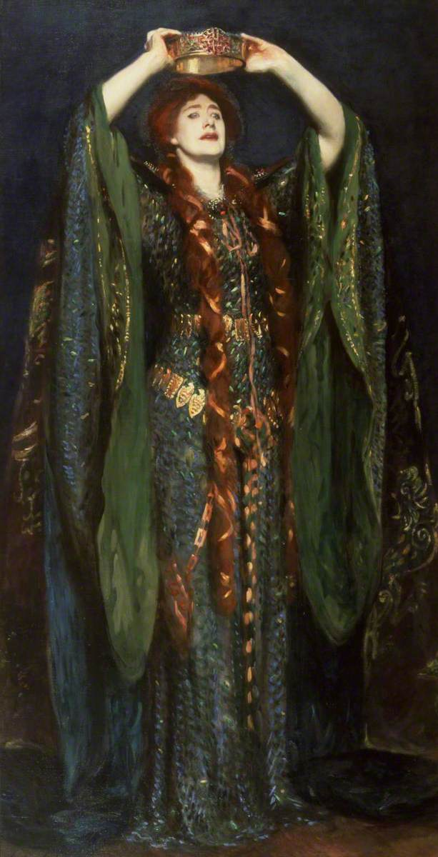 "John Singer Sargent, ""Ellen Terry as Lady Macbeth."" 1889."