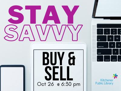 Buy & Sell Like a Pro October 26 6:30 pm