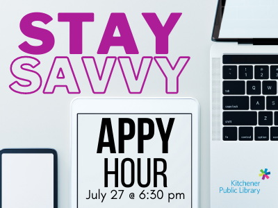 Stay Savvy: Appy Hour Tuesday July 27 @ 6:30 pm