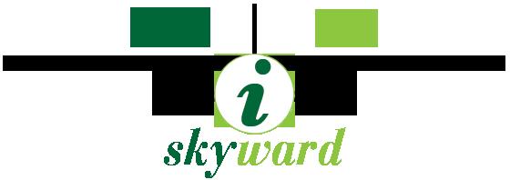 Flight Simulator Skyward logo containing aircraft silhouette and idea lab logo