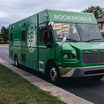 Bookmobile parked