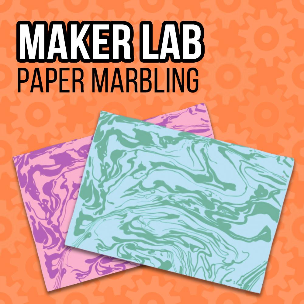 Maker Lab Paper Marbling