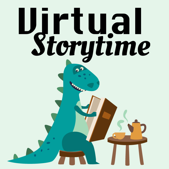 Virtual Story Time Dinosaur image