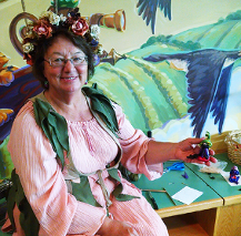Maureen Carlson of WeeFolk Creations as the StoryClay Teller