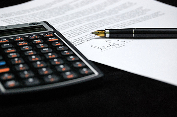 Business Papers and Calculator
