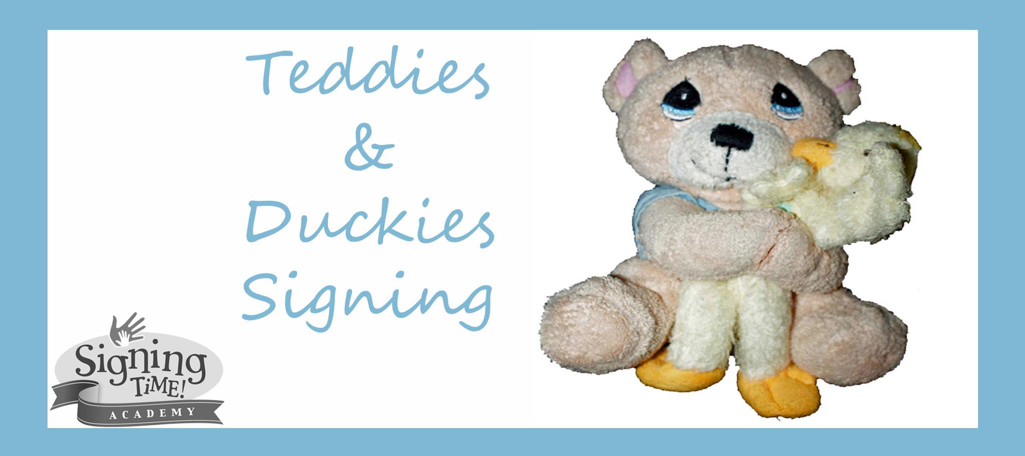 Teddies and Duckies Signing