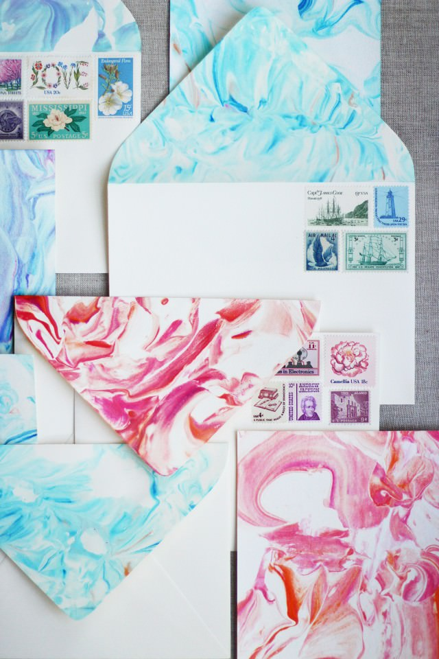 Paper marbling picture