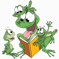 Frogs Reading