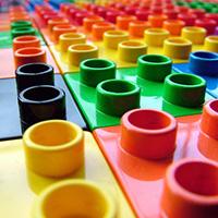 Close-up of LEGO bricks