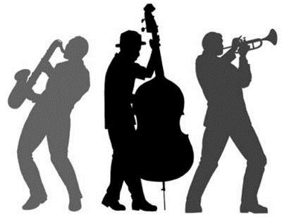 image of three silhouettes playing instruments