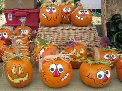 Pumpkin Painting - How to paint a pumpkin