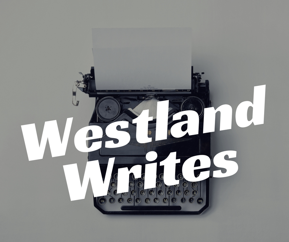An image of a typewriter with the text Westland Writes