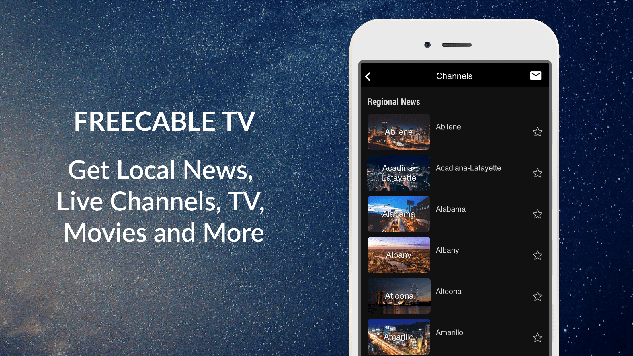 FREECABLE TV - Best Local News App