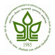 Dr YS Parmar University of Horticulture - Forestry