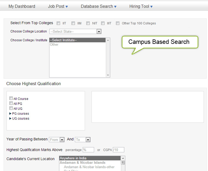 Campus-based-search