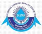 JRF Pharmaceutical Technology Jobs in Thanjavur - Sastra University