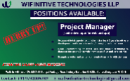 Project Manager Jobs in Durgapur - Wifinitive Technologies LLP