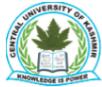 Assistant Professor /Teaching Assistant Jobs in Srinagar - Central University of Kashmir