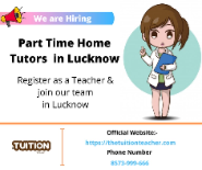 Private Home tutor Jobs in Lucknow - TheTuitionTeacher.com