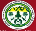 SRF Entomology Jobs in Garhwal Srinagar - Uttarakhand University of Horticulture Forestry