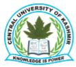 Teaching Assistants / Skill Instructors Jobs in Srinagar - Central University of Kashmir