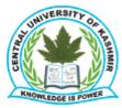 Assistant Professor/Associate Professor/ Professor Jobs in Srinagar - Central University of Kashmir