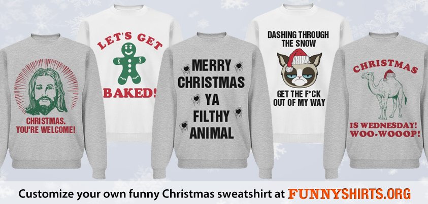 Spread Some Holiday Cheer with Funny Christmas Sweatshirts ...