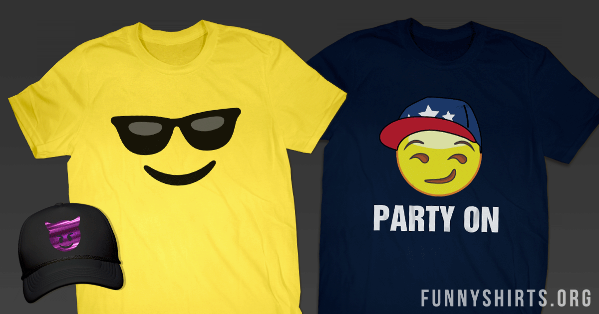 Funny Emoji Shirts That Will Make You LOL - FunnyShirts org Blog