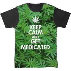 All Over Keep Calm Marijuana Print