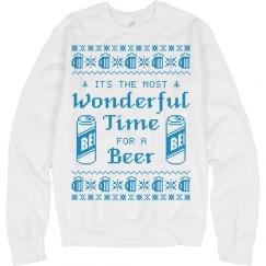 Most Wonderful Time for Beer Sweatshirt