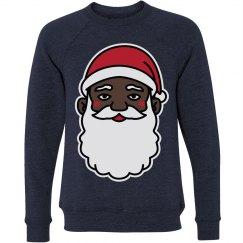 Christmas Cheer Black Santa Sweater