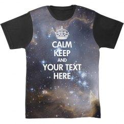 Keep Calm Space Allover Print