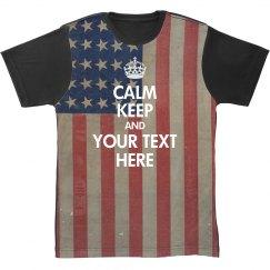 America All Over Print Keep Calm