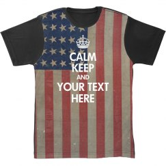 America All Over Print Keep Calm
