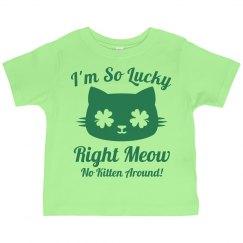 Kids Cat Puns St Patricks Day