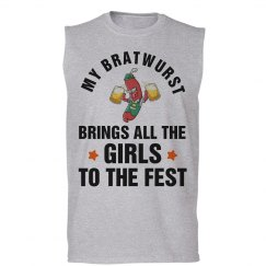 My Bratwurst Brings the Girls Oktoberfest Tank