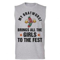 My Bratwurst Brings the Girls Oktoberfest Tank