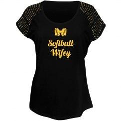 Softball Wifey Tshirt