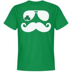 Shamrock Mustache St Pattys Day