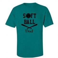 Blue Softball Dad Tshirt