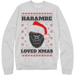 Harambe Loved Christmas Sweater