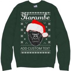 Custom Harambe Meme Xmas Sweater