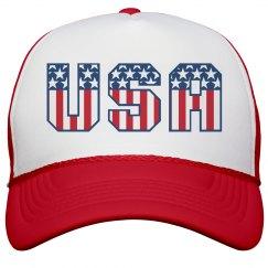 I Love the USA Stars and Stripes