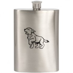 Wolf/Pup Flask